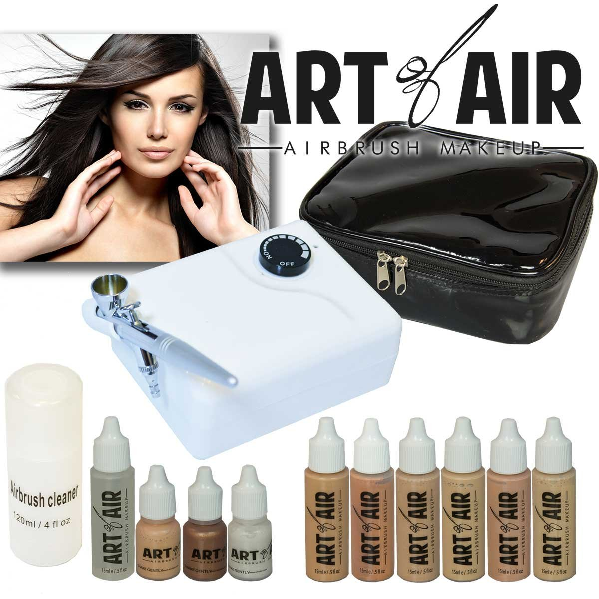 The Art of Air makeup kit offering is one that is perfectly suited for beginners who are purchasing a new kit for the first time.