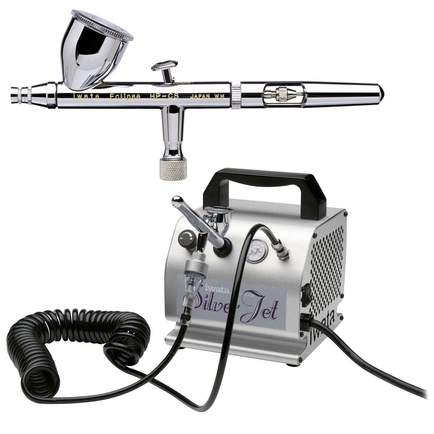 The Iwata airbrush system is highly-rated and certainly one of the best airbrush makeup kit options to consider.