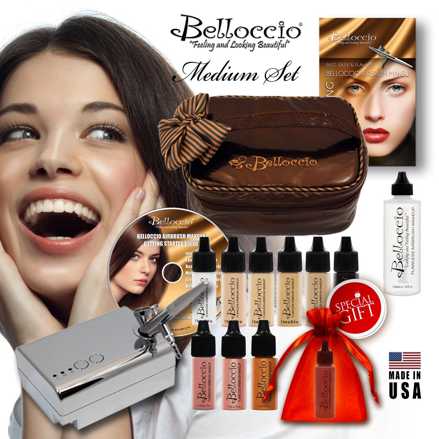 Belloccio are a respected and well-known brand in the airbrush makeup kit space.