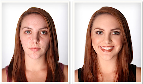 Airbrush makeup kits are renowned for providing a smooth and flawless makeup look. The before and after image below features just how spectacular airbrush makeup looks.